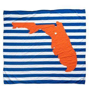 Florida Gators Inspired Baby Blanket Organic